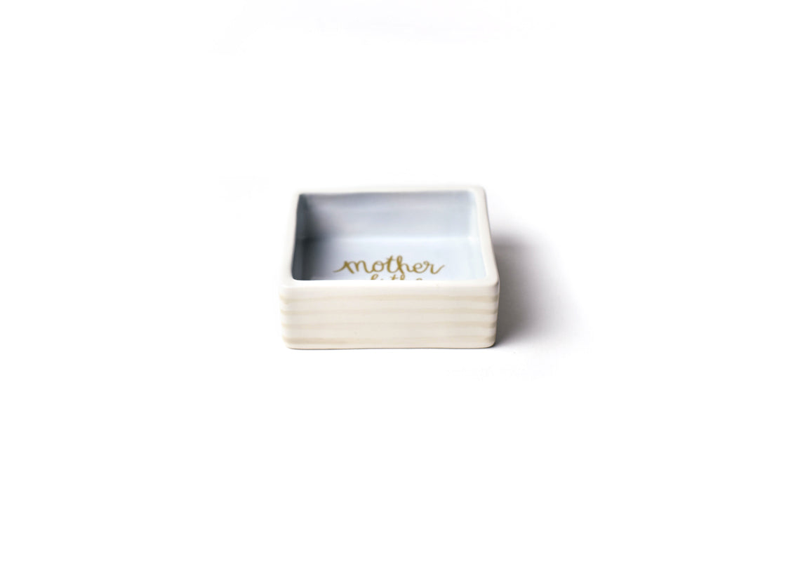 Ecru Mother of the Bride Square Trinket Bowl