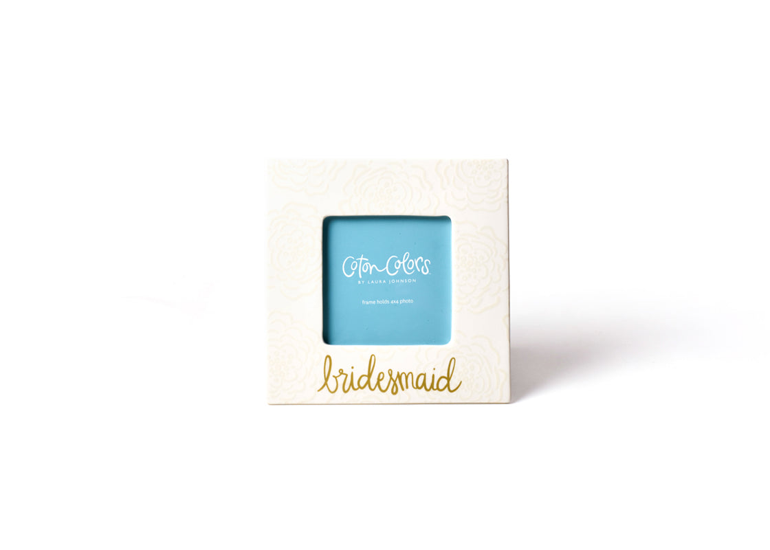 Ecru Floral Bridesmaid Square Frame