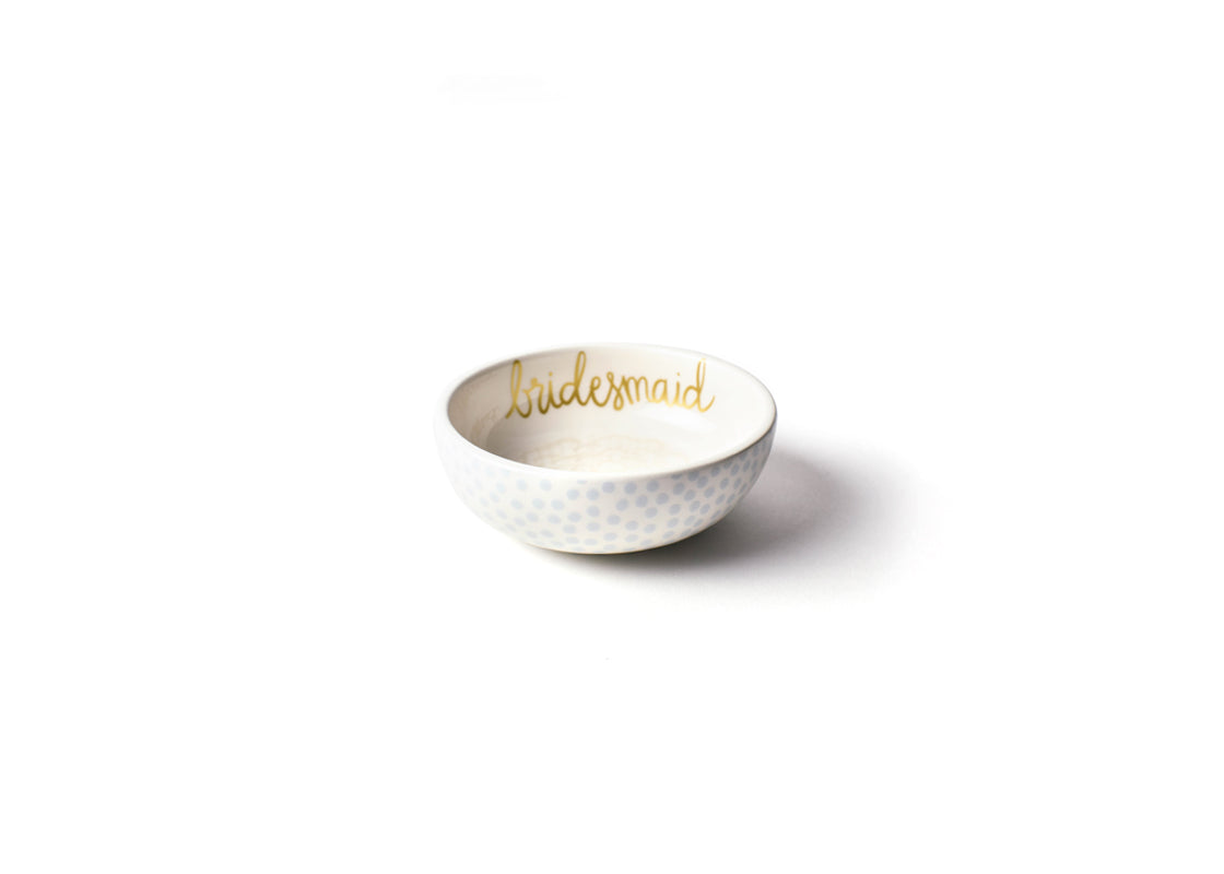 Ecru Floral Bridesmaid Round Trinket Bowl