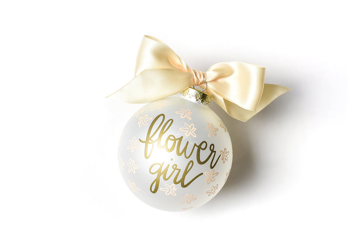 Floral Flower Girl Glass Ornament