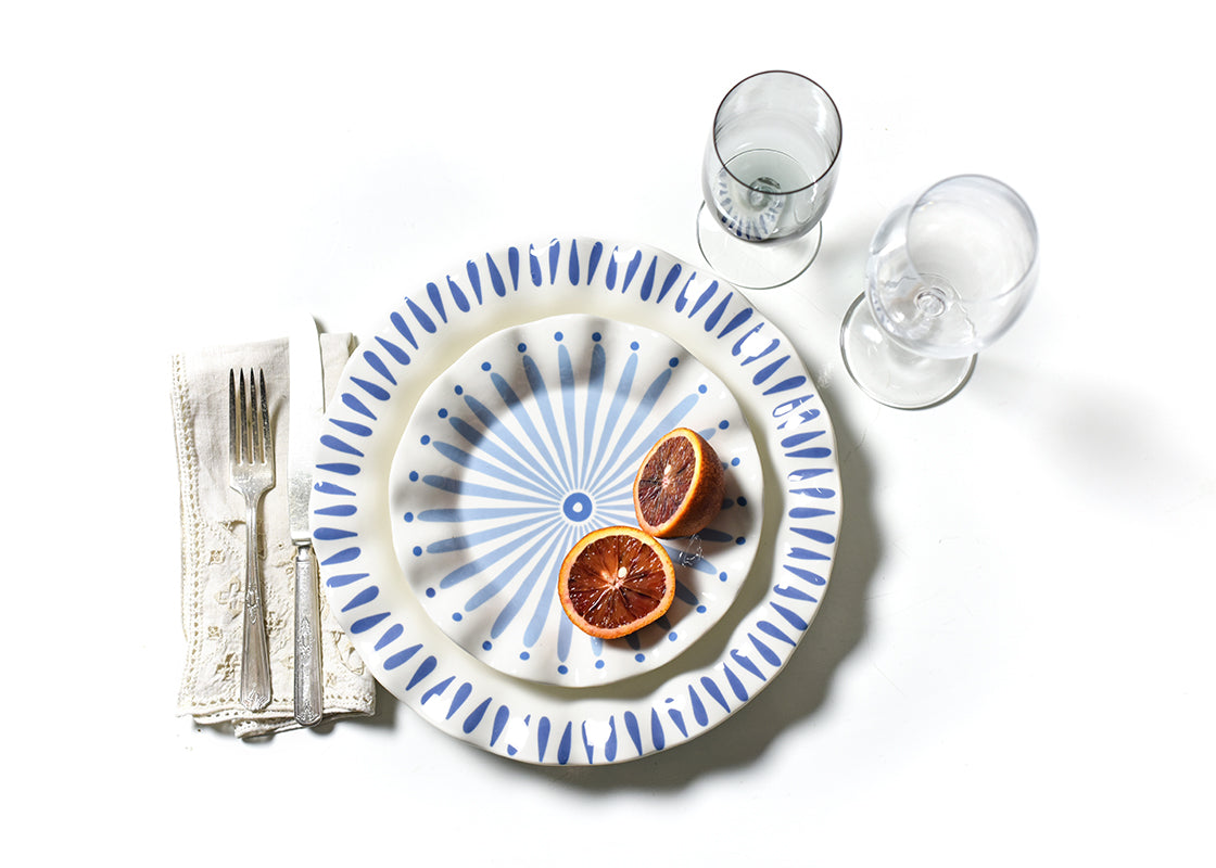 Iris Blue 4 Piece Place Setting