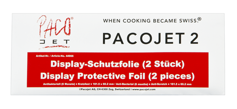 Pacojet Protective Foil for Pacojet 2 Display 2 Pack