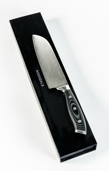RC Japanese Damascus Super Steel Santoku Knife