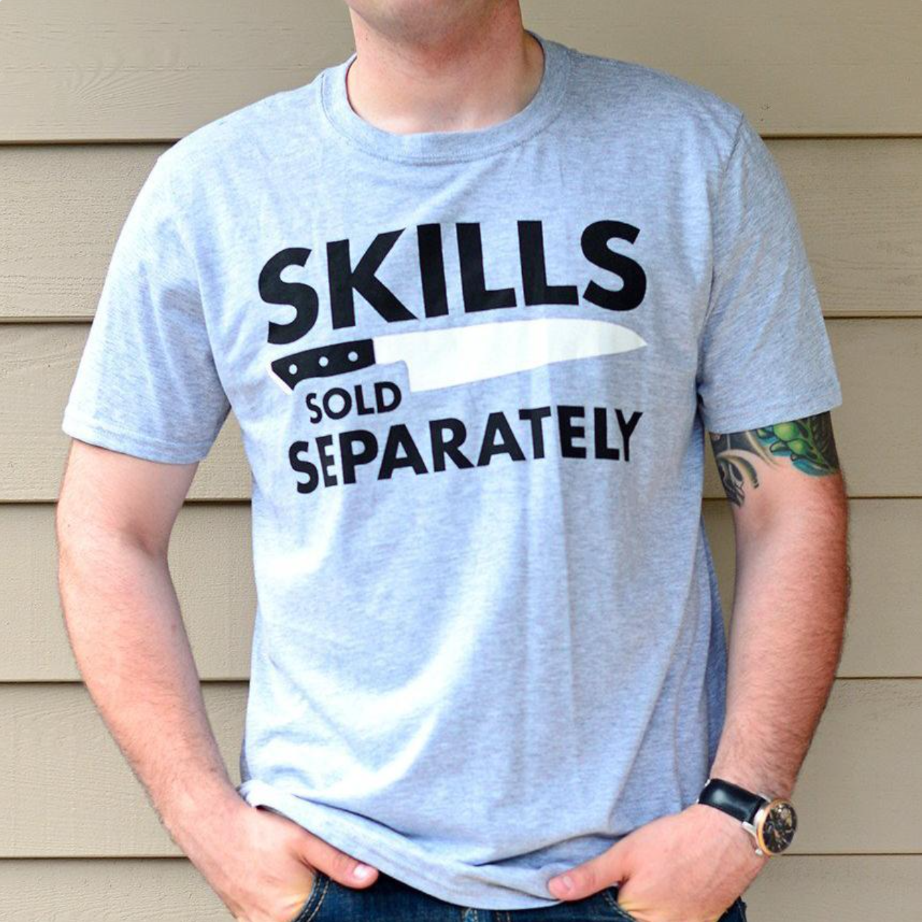 Skills Tee / Dark Gray (Free Shipping Fee)
