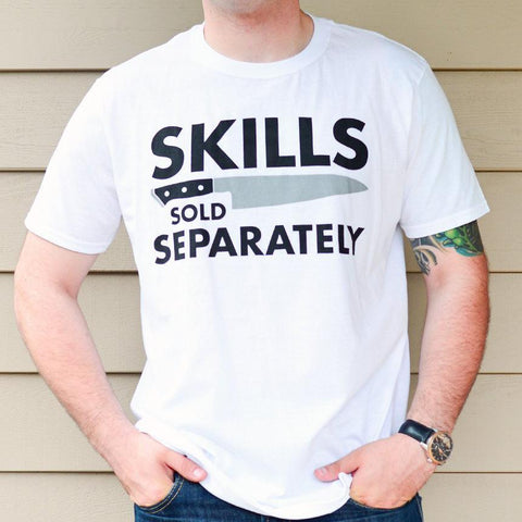 Skills Tee / White (Free Shipping Fee)