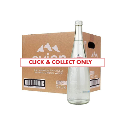 Evian Still Water 750ml Glass Bottle x12