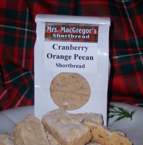 Cranberry Orange Pecan Shortbread