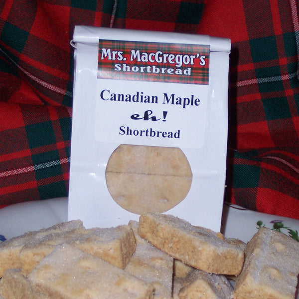 Canadian Maple, eh! Shortbread