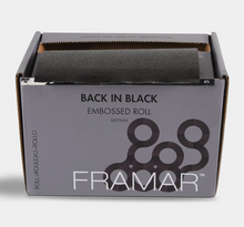 Load image into Gallery viewer, Framar Embossed Roll Back in Black