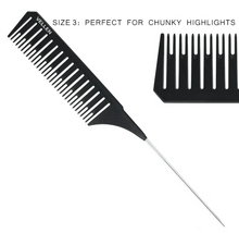 Load image into Gallery viewer, PREMIUM RAT TAIL COMBS for Highlighting Effects / 3 Sizes with Special Design available