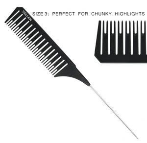 PREMIUM RAT TAIL COMBS for Highlighting Effects / 3 Sizes with Special Design available
