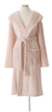 Pine Cone Hill - Fleece Hooded Robe - Slipper Pink