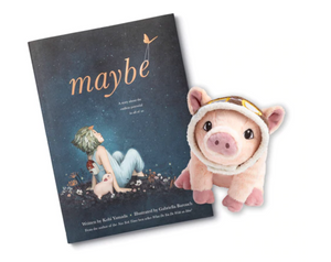 Maybe Book and Flying Pig Plush Gift Set