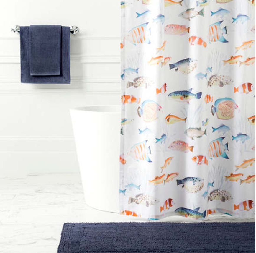 Pine Cone Hill - Happy Fish Shower Curtain