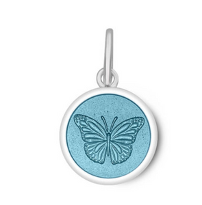 LOLA - Butterfly Pendant - Light Blue