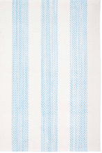 Load image into Gallery viewer, Dash & Albert - Cruise Stripe Blue Woven Cotton Rug