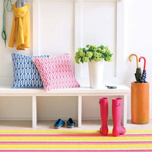 Load image into Gallery viewer, Dash & Albert - Happy Yellow Stripe Indoor/Outdoor Rug