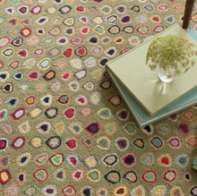 Load image into Gallery viewer, Dash & Albert - Cat's Paw Sage Wool Micro Hooked Rug
