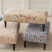 Load image into Gallery viewer, Dash & Albert - Ines Turned Leg Rug Ottoman