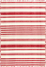 Load image into Gallery viewer, Dash & Albert - Hampshire Stripe Red Woven Cotton Rug