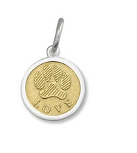 Load image into Gallery viewer, LOLA - Paw Print Pendant - Gold Vermeil