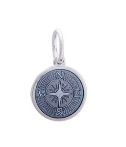 LOLA - Compass Rose Pendant - Pewter