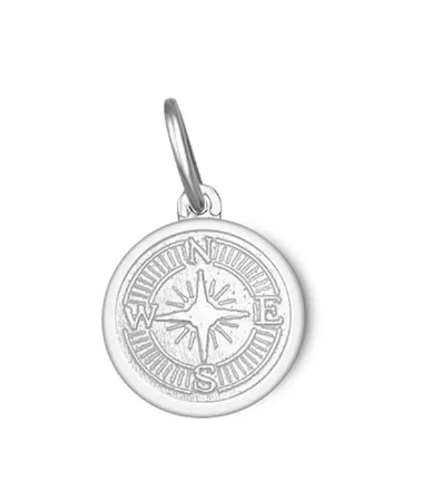 LOLA - Compass Rose Pendant - Alpine White