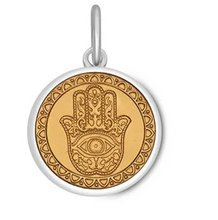 Load image into Gallery viewer, LOLA - Hamsa Pendant - Gold Center Vermeil