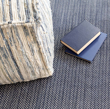 Load image into Gallery viewer, Dash & Albert - Denim Rag Woven Pouf