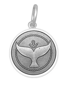 LOLA - Whale Tail Pendant - Pewter