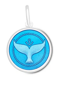 LOLA - Whale Tail Pendant - Periwinkle
