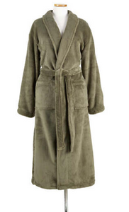 Pine Cone Hill Sheepy Fleece Robe - Vetiver