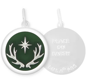 LOLA -  North Star Pendant - Forest Green