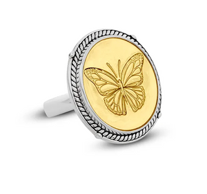 Lola - Butterfly Gold Center Ring
