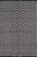 Load image into Gallery viewer, Dash & Albert - Diamond Indoor/Outdoor Rug - Black/Ivory