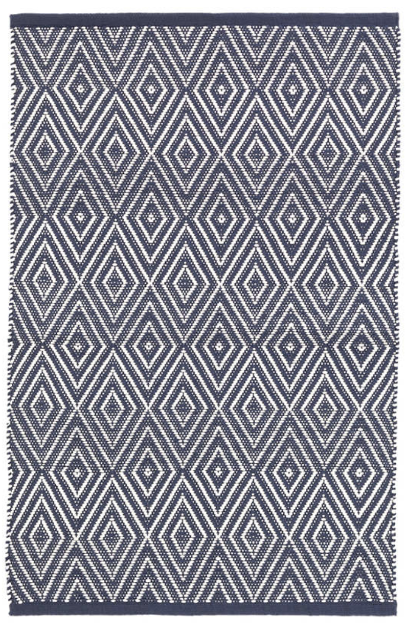 Dash & Albert - Diamond Indoor/Outdoor Rug - Navy/White