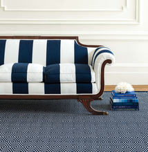 Load image into Gallery viewer, Dash & Albert - Diamond Indoor/Outdoor Rug - Navy/White