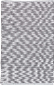 Dash & Albert - Herringbone Indoor/Outdoor Rug - Shale/White