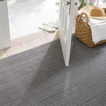 Load image into Gallery viewer, Dash & Albert - Herringbone Indoor/Outdoor Rug - Shale/White