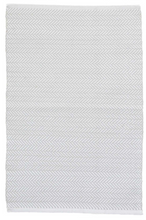 Load image into Gallery viewer, Dash & Albert - Herringbone Indoor/Outdoor Rug - Pearl Grey / White