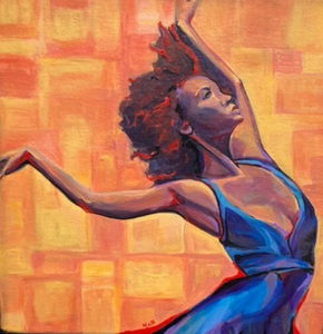 Dancer in Blue - Michele Boshar - Original Painting
