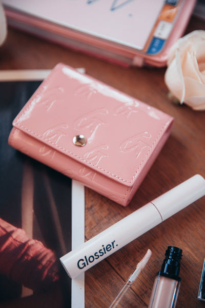 GLAM-AHOLIC COMPACT WALLET (PINK)
