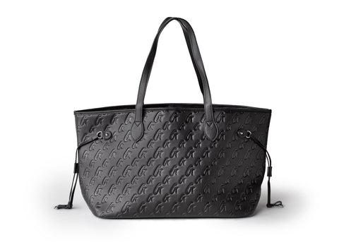 MATTE BLACK MONOGRAM GLAM TOTE