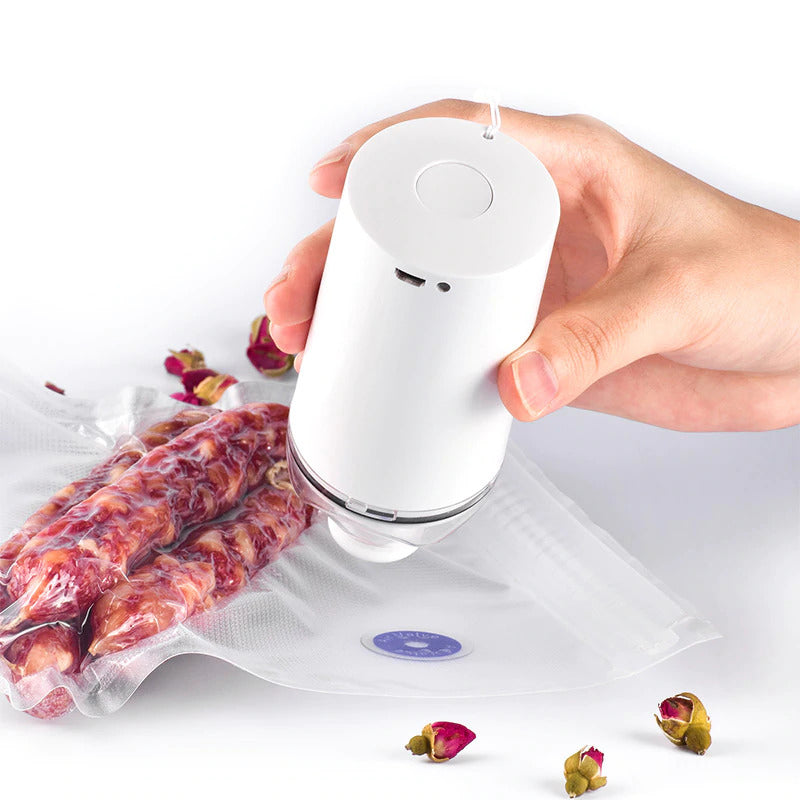 Portable Vacuum Sealer, Food Vacuum Sealer, Food Sealer, Mini/Small Vacuum Sealer, Vacuum Sealer With Bags, Vacuum Packing, Clothes Vacuum Sealer - Avolve