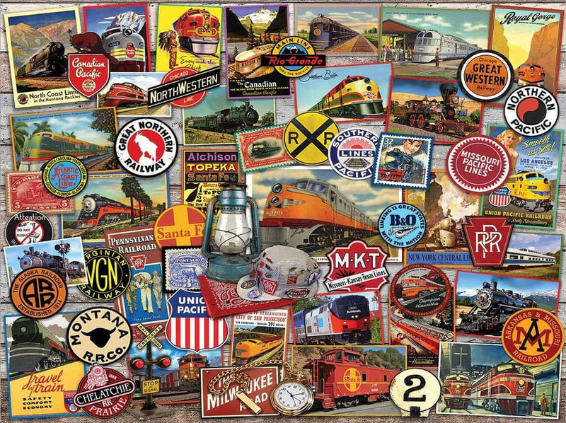 ALL ABOARD TRAINS PUZZLE