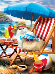 BEACH CATS PUZZLE