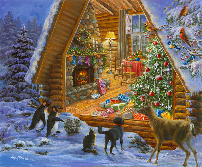 CHRISTMAS CABIN PUZZLE