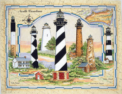 COASTAL LIGHTS OF NORTH CAROLINA PUZZLE