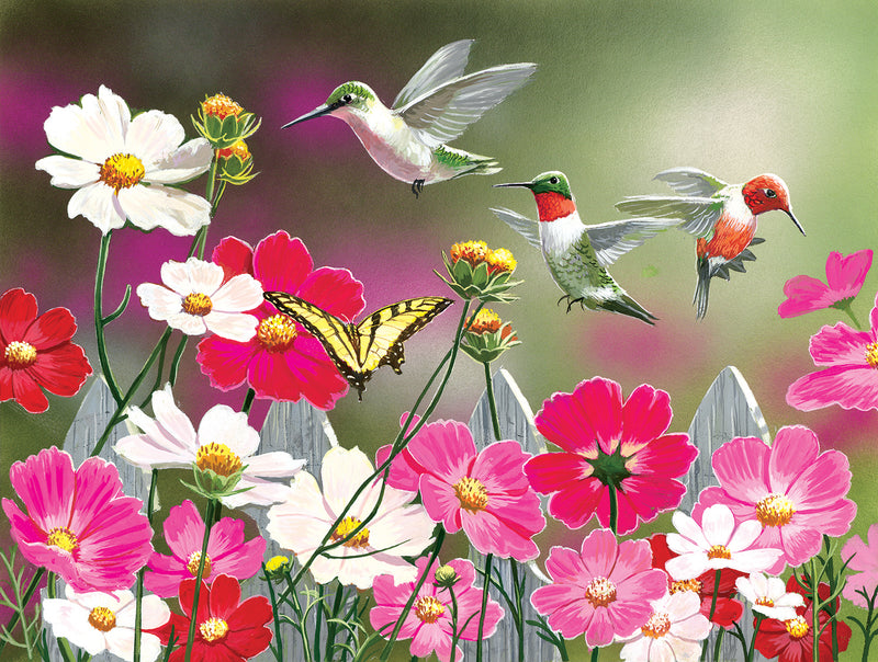 COSMOS AND HUMMINGBIRDS PUZZLE