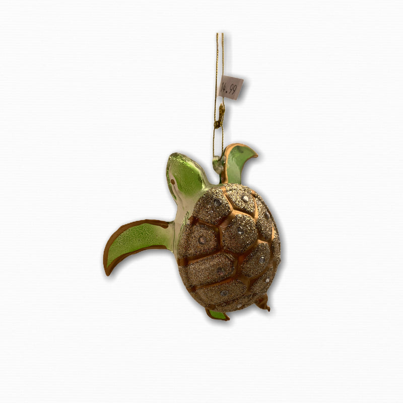 DANGLING JEWELED SEA TURTLE ORNAMENT
